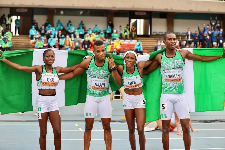 Team Nigeria finishes third with four gold medals in World Athletics Under-20