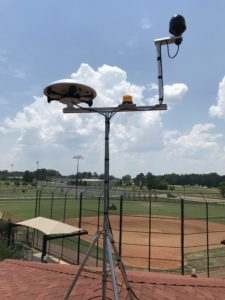 ThorGuard installed by Relyon, lightning prediction system in Liberty Park, Mississippi.