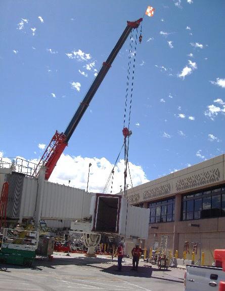 Airport terminal construction