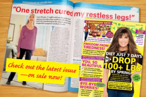 Lora's Restless Legs Syndrome Article in Fit for Women magazine