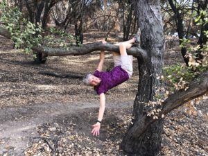 Joan Hanging by One Arm from a Tree