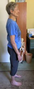 Joan Standing with Less Muscle Tension non-doing Alexander Techniquele Tension