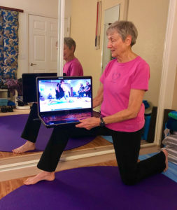 Exercising on-line with Katy