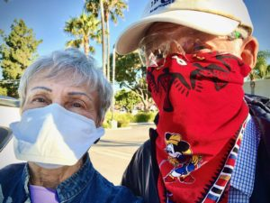 Joan and Willis masked