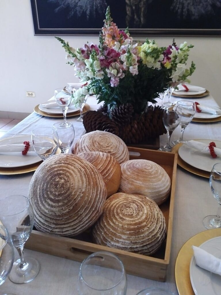 Pan Sourdough en mesa