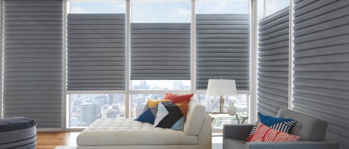grey contemporary window shades