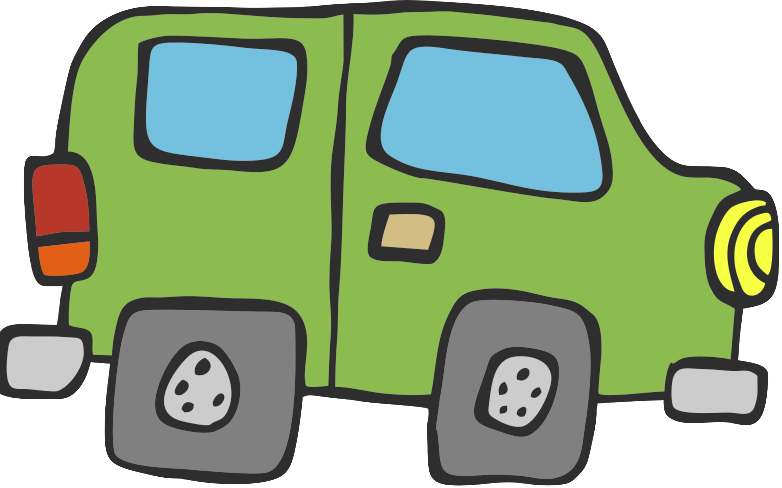 cartoon of a car with square wheels