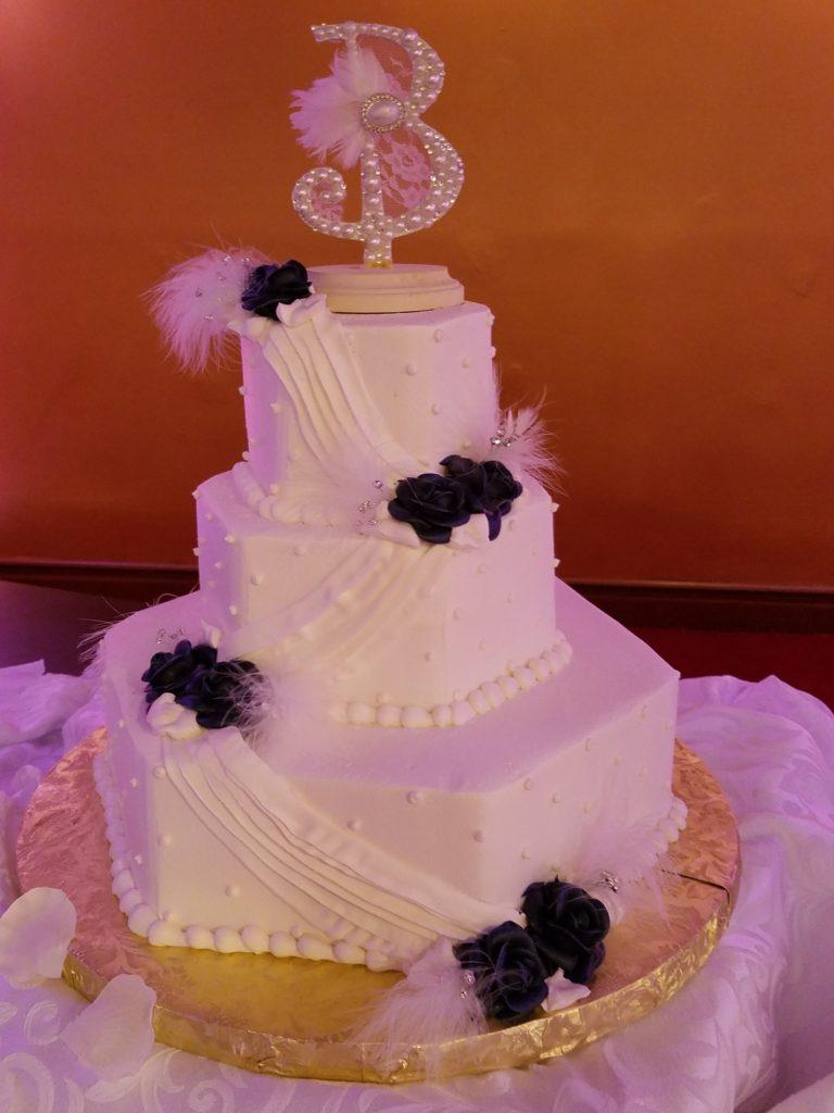 White Damask Cake Tablecloth
