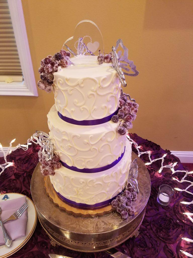 Eggplant Rosette Cake Tablecloth