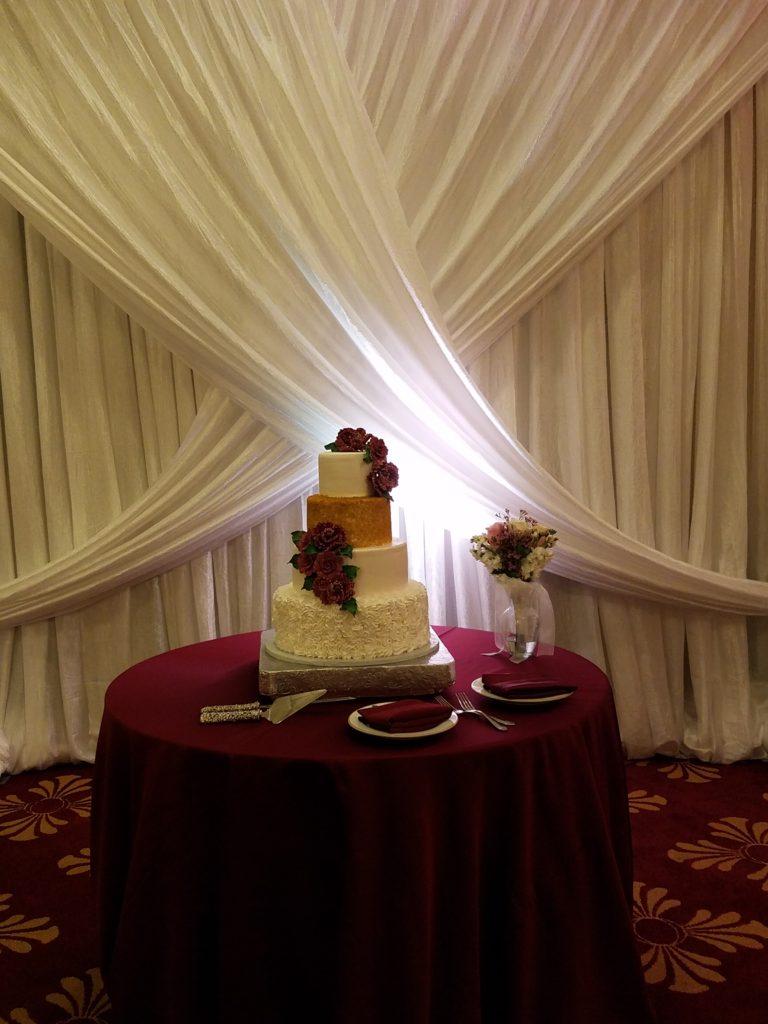 Burgundy Cake Tablecloth