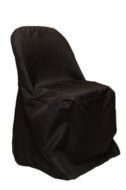 Black Poly Chair Cover