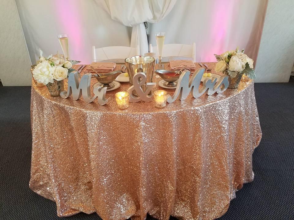Blush Sequin Tablecloth
