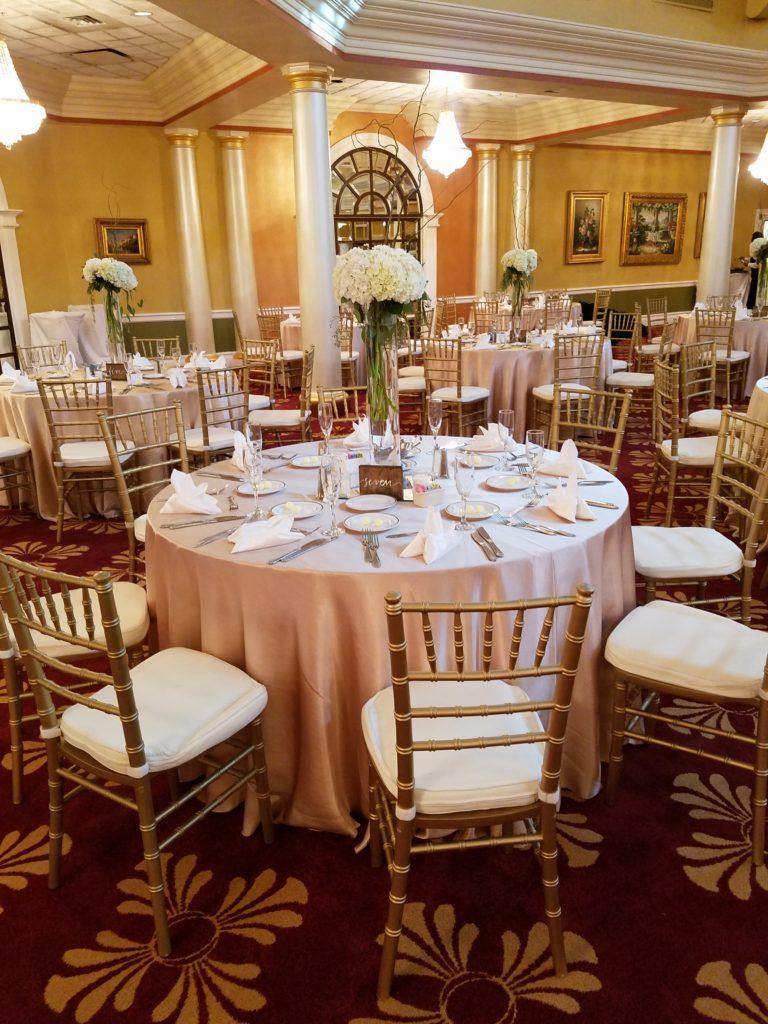 Blush Satin Tablecloths