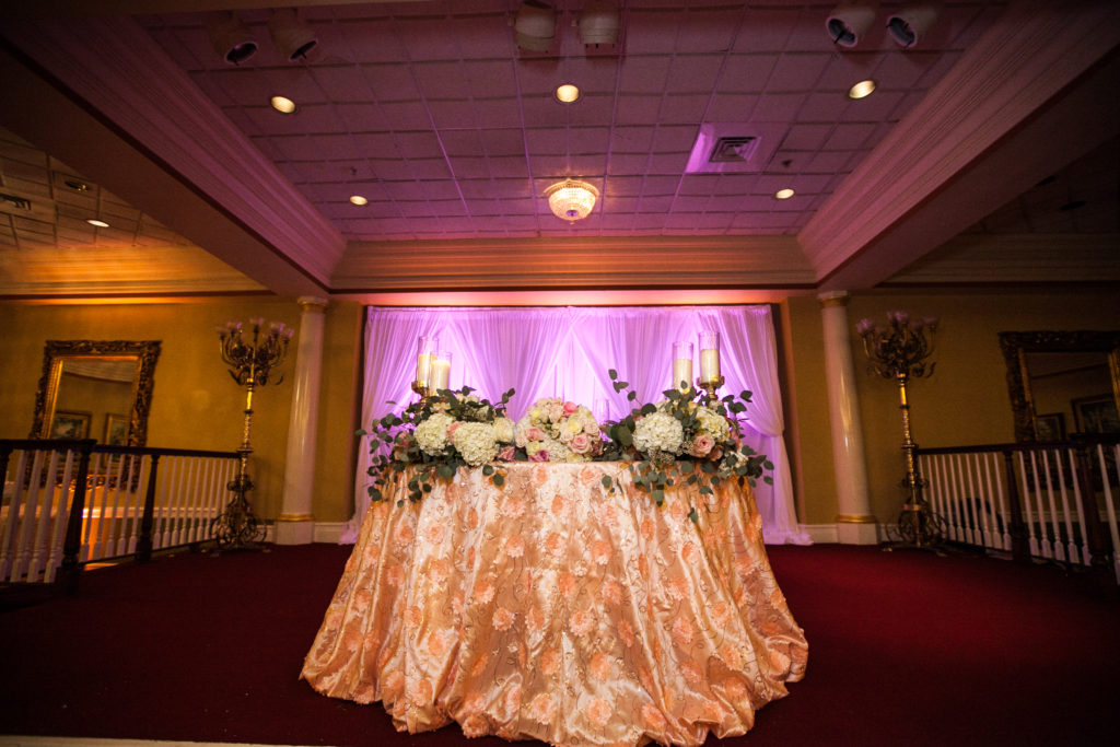 Blush Flower Sequin Tablecloth
