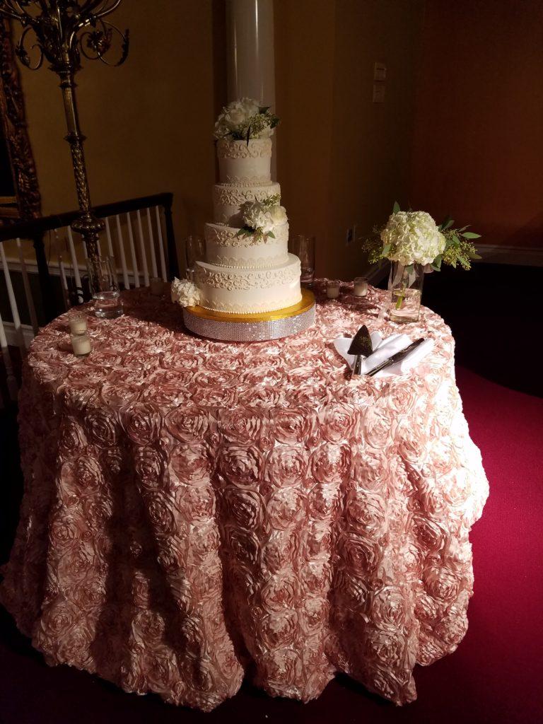 Blush Rosette Tablecloth