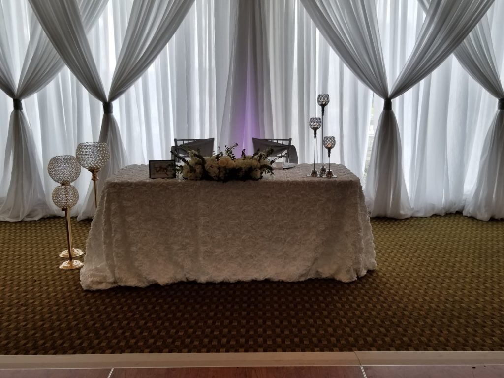 White Rosette Tablecloth