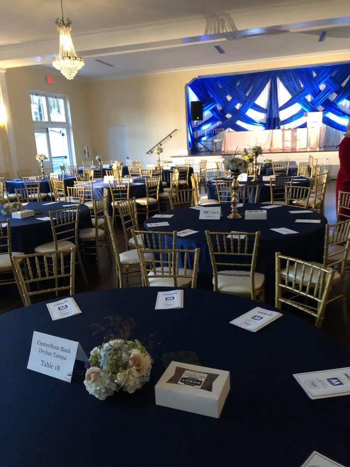 Navy Majestic Tablecloth