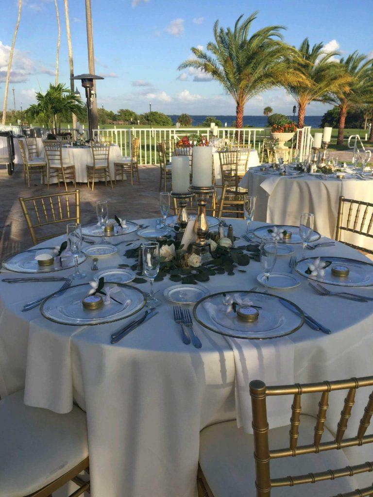 White Poly Tablecloth w/ White Poly Napkins