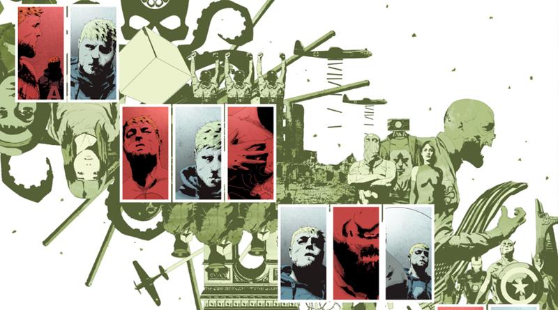 """Na edição """"Ômega"""" da revista, os dois Capitães América se encontraram."""