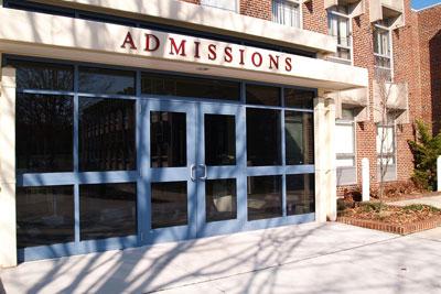 college campus admissions office