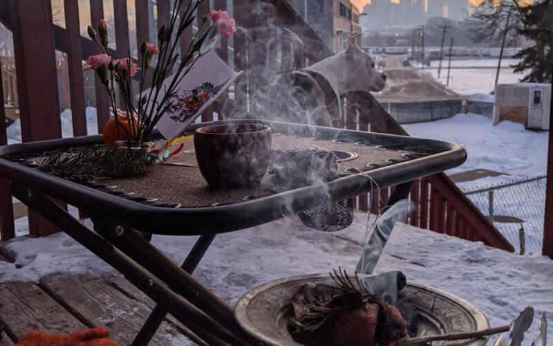 Huitzilopochtli Sunrise Ceremony at the Torres' Home in Minneapolis