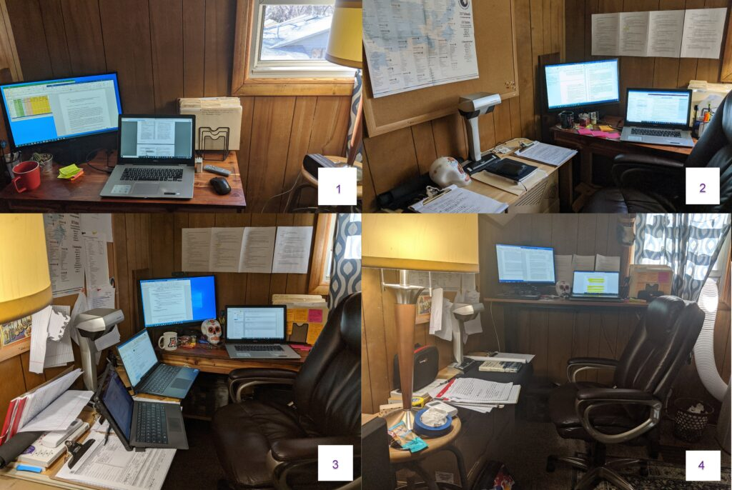 Pictures of office layout progression