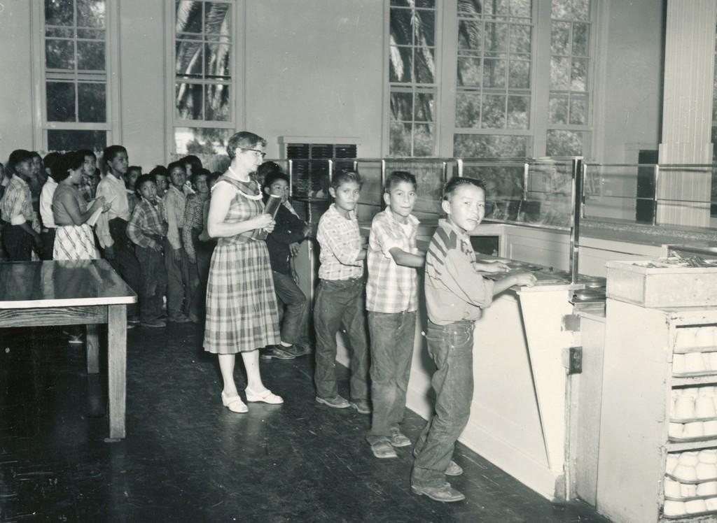 Sherman Institute Lunch Line