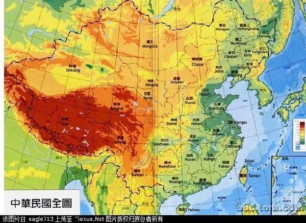 清朝末期中国地图