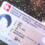 刘欣微博上贴出的一张在瑞士的驾照