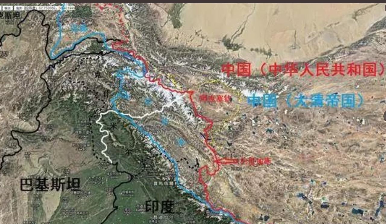 大清时中国西藏新疆领土