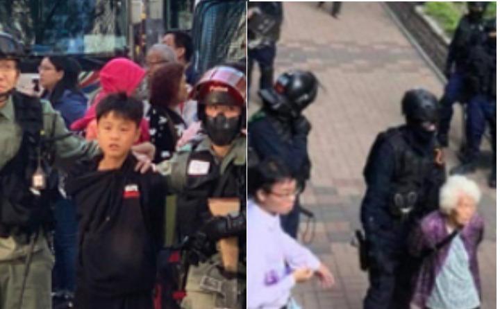 80岁老奶奶和12岁孩童被中共警察抓捕