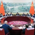 """""""人民领袖""""习近平政治局会议"""