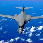 图为B-1B超音速轰炸机(飞机)