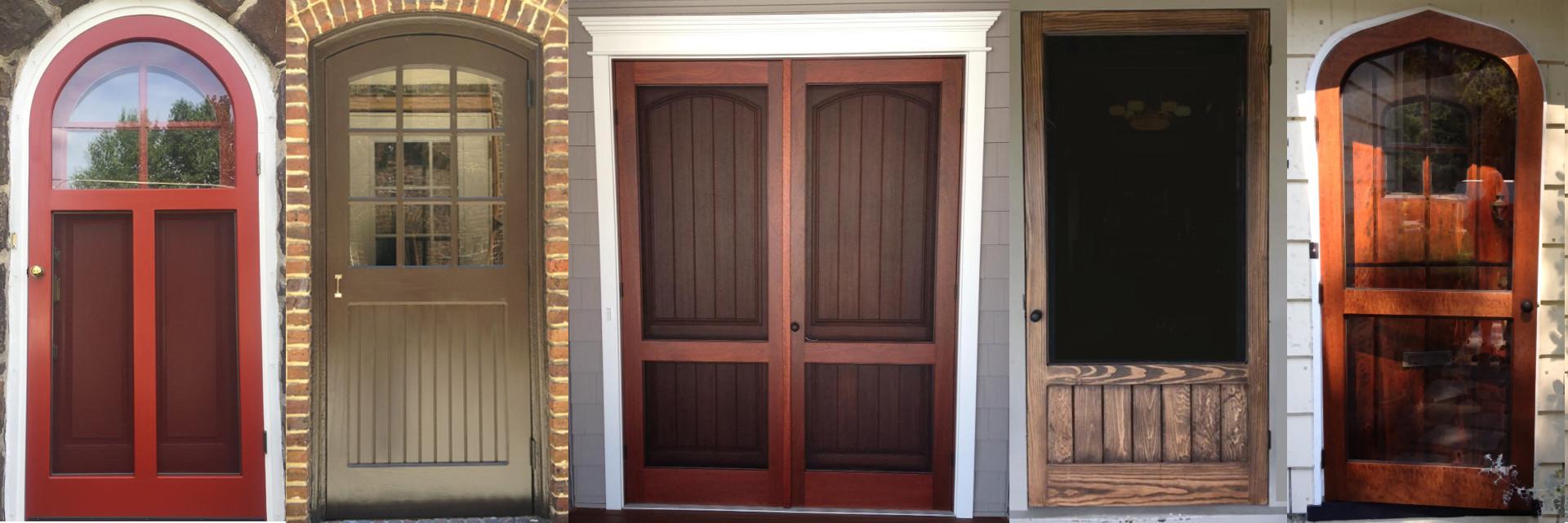 wood storm doors from Victoriana East
