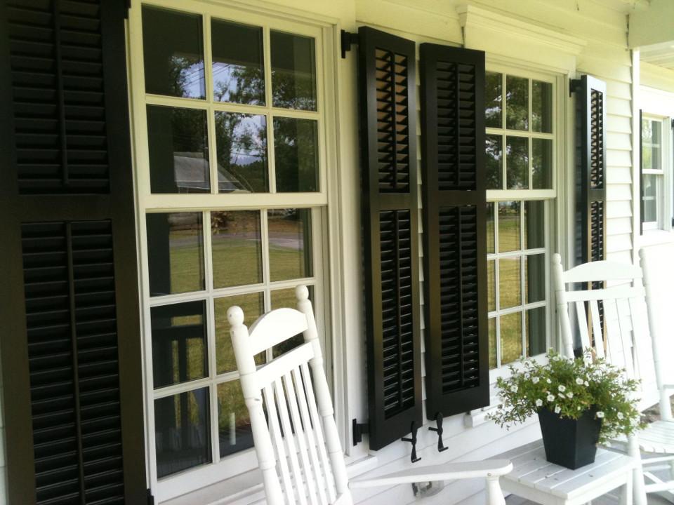 custom black shutters