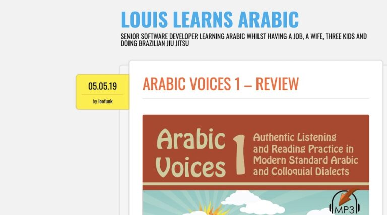 REVIEW: Arabic Voices 1