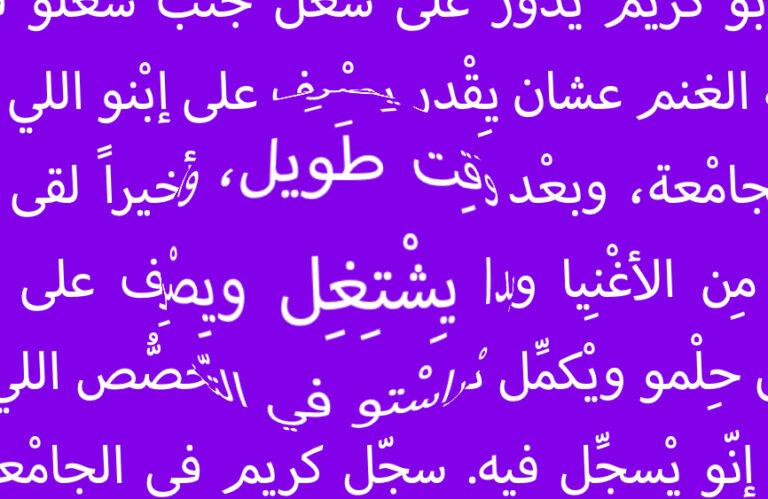 Levantine Arabic Orthography