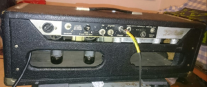 1962 Fender Band Master Blackface Head - Back Panel