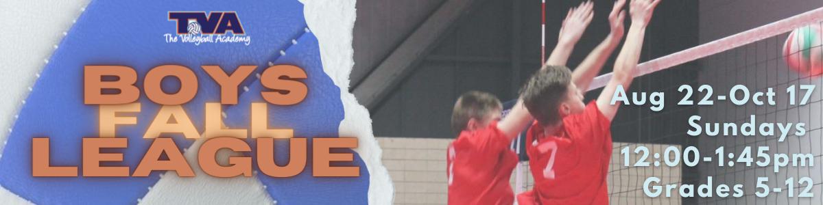 Boys Fall League Banner