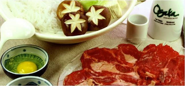 Authentic Japanese dish served at Osaka Japanese Bistro