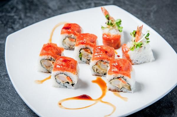 tiger roll Osaka Japanese restaurant sushi roll