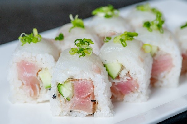 Fresh fish in white tiger sushi from Osaka Japanese Restaurant