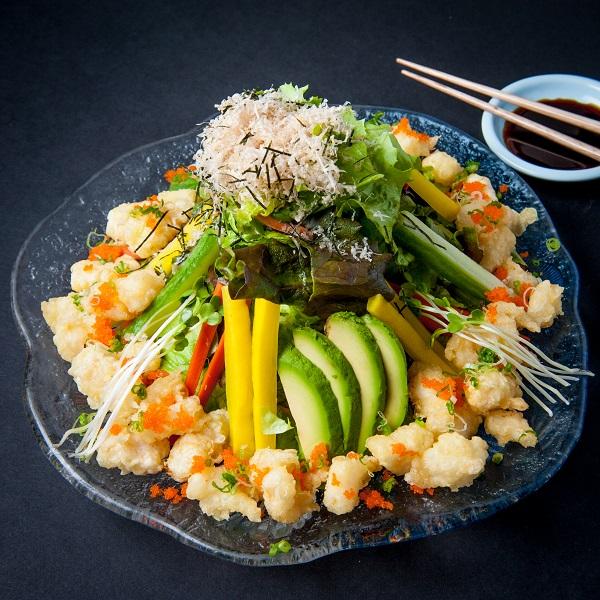 Rock shrimp salad
