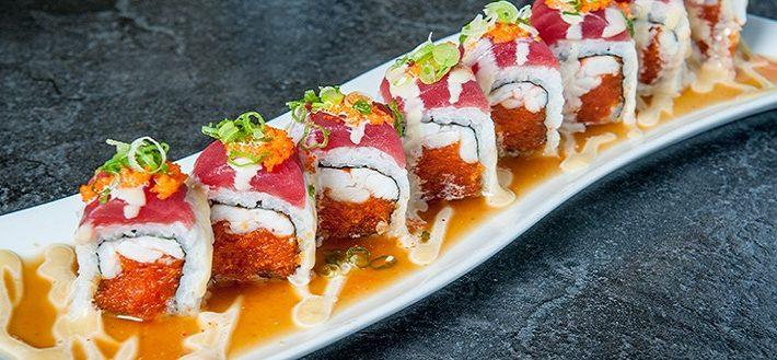 Osaka sushi plate beautiful presentation