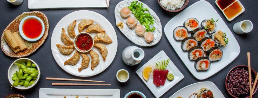 Osaka Bistro catered food sushi sashimi gyoza and other Japanese food