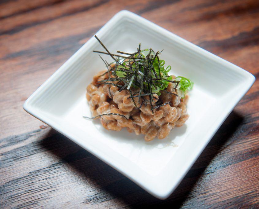 osaka bistro small dish of natto fermented bean dish