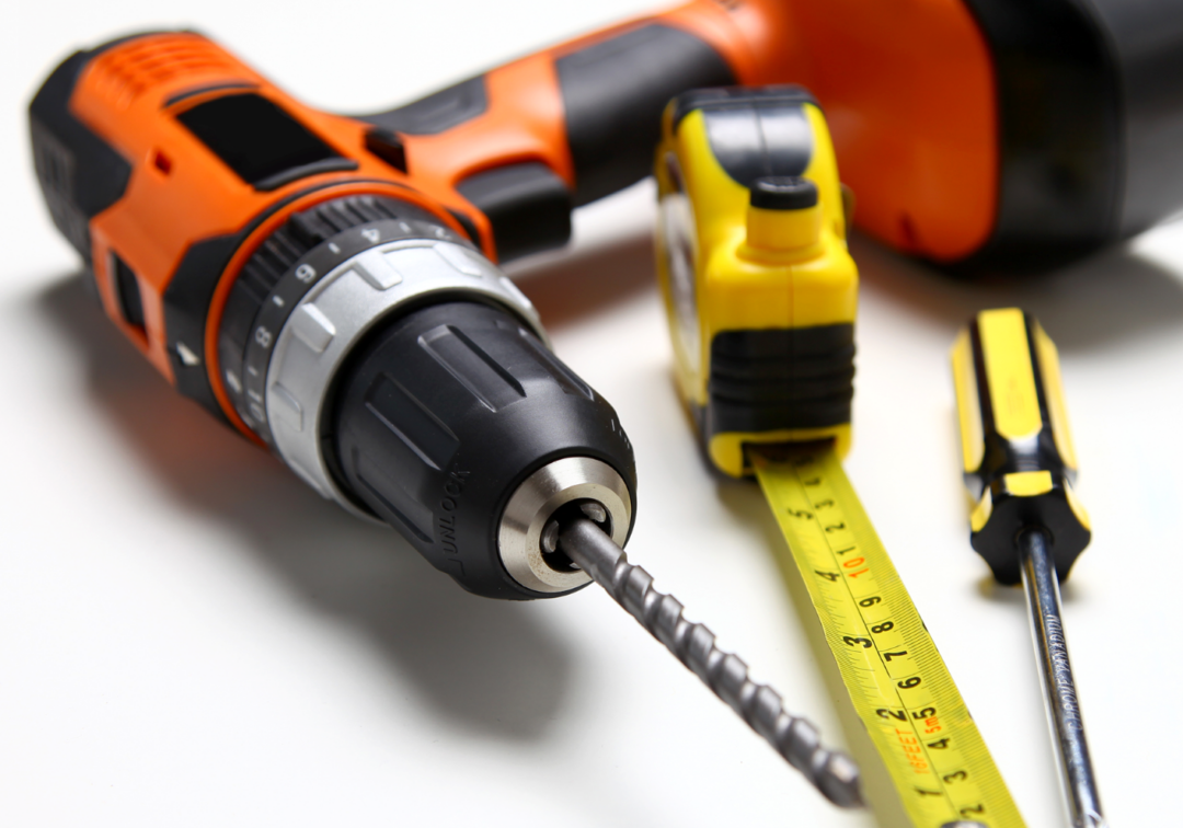 Power-Drill-Tools-Tape-Measure