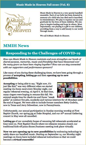 2020 Fall MMIH Newsletter