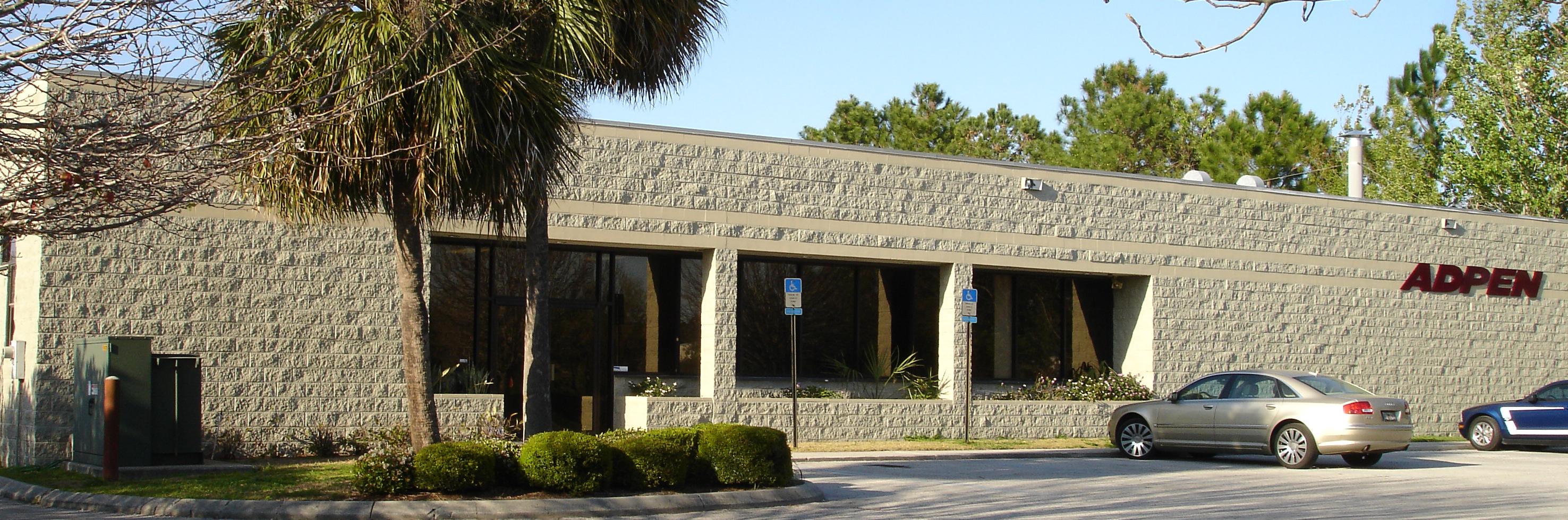 The exterior of ADPEN Laboratories in Jacksonville, FL