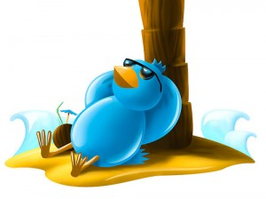 Twitter Under a palm tree in the Shade